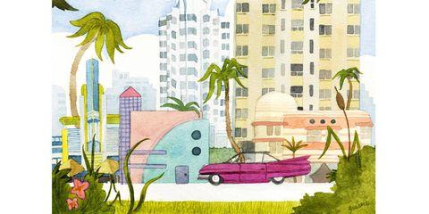 Neighbourhood, Art, Tower block, Artwork, Paint, Painting, Illustration, Cityscape, Skyscraper, Arecales,
