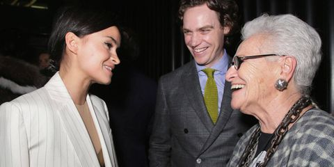 There was a moment at last night's Town & Country dinner in Milan when Rosita Missoni, matriarch of the Italian knitwear empire, greeted social media superstar Miroslava Duma. The joining of tradition and innovation might have been scripted. The evening, held overlooking the Duomo at Ristorante Giacomo Arengario, was a celebration of the time-honored excellence of Italian fashion and also a welcome to the magazine's new Creative Director At Large, Nicoletta Santoro.
