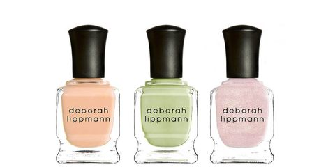 """<p>From baby pink to pale banana, Deborah Lippmann's Spring Reveries collection is a study of playful pastels. A manicure in one of these shades—our favorite is Tip Toe Through The Tulips, a creamy pale melon tone—will have you reaching for your favorite sundress.</p> <p> </p> <p><em>$18 each, <a href=""""http://www.deborahlippmann.com/spring-reveries"""">deborahlippmann.com</a></em></p>"""