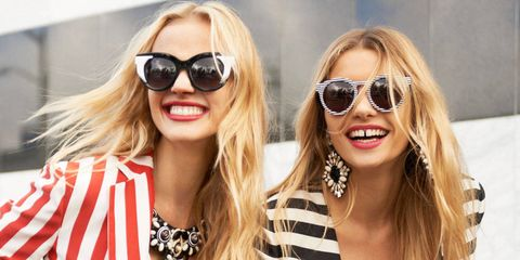While sunglasses are a year-round staple for most, we still like to switch things up with a fresh pair when the warm weather hits. From retro-inspired round sunglasses to futuristic cat eyes and graphic eyewear—shop our favorite sunglasses trends of the season.
