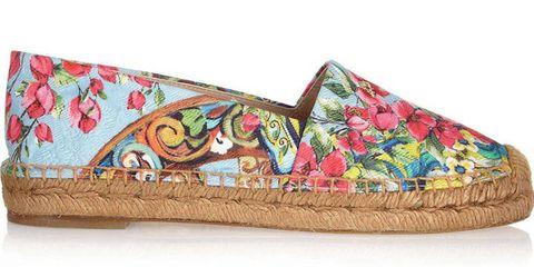 Dolce & Gabbana Printed Brocade Espadrilles, $445; net-a-porter.com