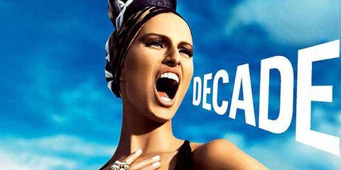 Perfume, Fashion accessory, Wrist, Headpiece, Fashion model, Model, Flash photography, Hair accessory, Body jewelry, Poster,