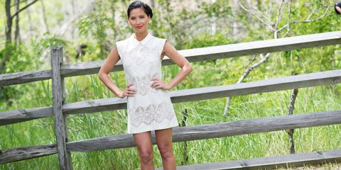 Dress, Summer, People in nature, Waist, One-piece garment, Day dress, Street fashion, Spring, Home fencing, Fence,