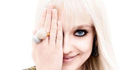 """DAKOTA FANNING was just five years old and living with her parents and one-year-old sister in the small town of Conyers, Georgia, when, as she tells it, she and her mother had a heart-to-heart regarding her proto–movie star career trajectory. In the end they came to what she describes as a mutual decision: to move from their home, 20 miles southeast of Atlanta—where they were part of an athletic extended clan, and practicing Southern Baptists—to Los Angeles, where the only things anybody worships are fame and box office loot. There she would see if she could build on the success she had had being standout cute in community theater.Which might sound a bit implausible if it weren't coming from Fanning, who is a lively, confident, and apparently quite undamaged 20-year-old woman, despite growing up on the big and small screens. What five-year-old is that methodical in pursuing her ambitions? Surely her parents pushed her to perform, at least subliminally? Her mother Joy is a former professional tennis player who majored in fashion merchandising and who, by Dakota's own accounting, gave up everything for her daughter. Her father Steven is a former minor league baseball player. So, at least from afar, they seem to fit the bill of the cliché of living vicariously through their children, for there are two stars in the family: Dakota and her fashion plate younger sister, Elle (who is appearing in Maleficent this summer).But no, Dakota insists, a bit impatiently, it was all basically her idea. """"It's hard to explain to someone who didn't know me as a child,"""" she says, looking me right in the eye. """"But even before I started working—when I was two, three, four, five—I was an exceptionally mature child. I just was. And my mom and I were able to have conversations like, 'Do you want to go to California and go to auditions for commercials and TV shows? Is that something you want to do?' And I was like, 'Yeah, let's give it a try.' """"Above: Louis Vuitton blouse ($6,650)."""