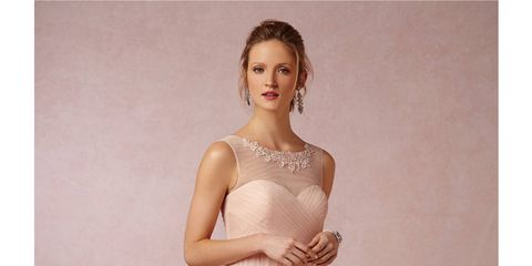 0ea2216d9858 Courtesy BHLDN. 17 of the prettiest romantic nude and pale pink bridesmaid  dresses ...