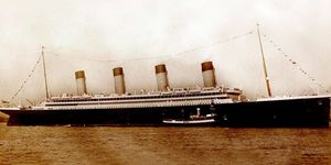 The Titanic, setting sail from Southampton, England, on April 10, 1912.