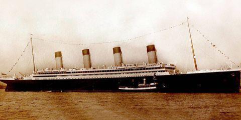 The Titanic, setting sail from Southampton, England, on April 10, 1912.