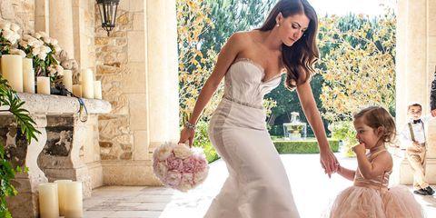 Clothing, Arm, Human body, Dress, Bridal clothing, Shoulder, Textile, Photograph, Petal, Formal wear,