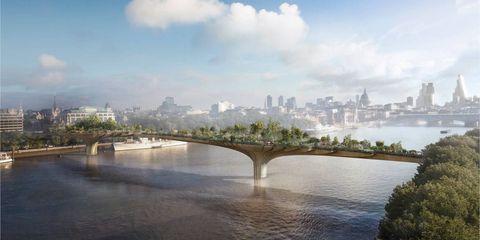 Body of water, Daytime, Bridge, Cloud, Water resources, Water, Waterway, Metropolitan area, City, Arch bridge,