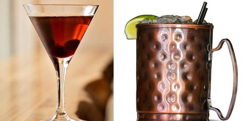 <p>A Manhattan and a Moscow Mule.</p>