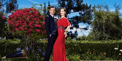 <p><em><strong>The Goldwyn siblings, actor, producer, and director Tony and writer, director, and artist Liz, poolside at their father's Beverly Hills home.</strong></em></p>