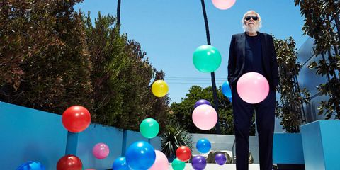<p>John Baldessari, outside his Venice studio.</p>