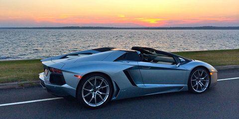 <p>The Lamborghini Aventador on <span>Ocean Drive in</span><span> </span><span>Newport</span><span>, RI.</span></p>
