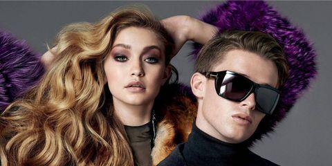 Eyewear, Vision care, Lip, Hairstyle, Purple, Violet, Style, Sunglasses, Eyelash, Fashion model,