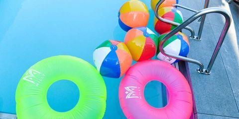 Inflatable, Aqua, Circle, Plastic, Synthetic rubber,