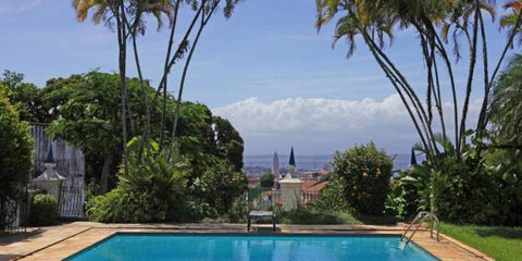 Blue, Swimming pool, Property, Water, Real estate, Resort, Azure, Rectangle, Aqua, Garden,