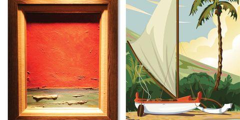Watercraft, Boat, Art, Sail, Paint, Painting, Ship, Illustration, Skiff, Watercolor paint,