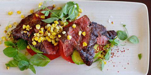 Food, Beef, Ingredient, Dishware, Serveware, Garnish, Meat, Plate, Recipe, Pork,