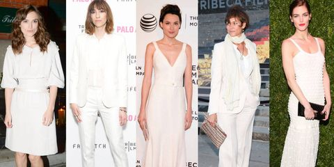 Kiera Knightley at the CHANEL Tribeca Film Festival closing dinner, Gia Coppola at the premiere of Palo Alto, Loan Chabanol at the premiere of Third Person, Carey Lowell at the 2014 VANITY FAIR Tribeca Film Festival party, Hilary Rhoda at the CHANEL Tribeca Film Festival Artists Dinner