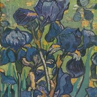 "<p>Facsimile detail of Van Gogh's ""Irises"" (1889).</p>"