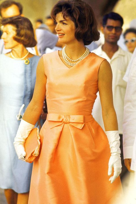 First Lady Jacqueline Kennedy in India, 1962.