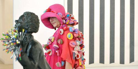 Pink, Sculpture, Costume, Knit cap, Bonnet, Tradition, Beanie,