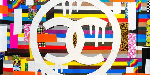 Yellow, Colorfulness, Art, Pattern, Orange, Majorelle blue, Parallel, Rectangle, Graphics, Visual arts,