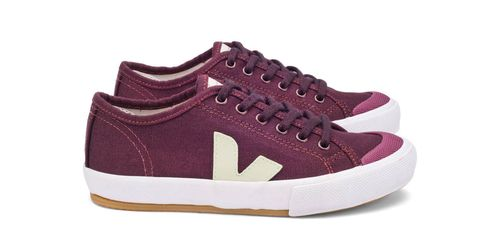 Footwear, Shoe, Product, Brown, White, Sneakers, Tan, Logo, Carmine, Magenta,