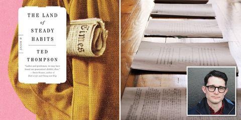 Textile, Text, Stairs, Tan, Khaki, Beige, Street fashion, White-collar worker, Pocket, Publication,