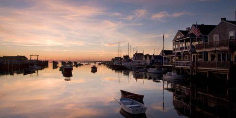 Reflection, Waterway, Watercraft, Dusk, Sunset, Sunrise, Evening, Harbor, Marina, Boat,