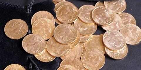 Money, Cash, Currency, Coin, Metal, Money handling, Saving, Bronze, Close-up, Circle,