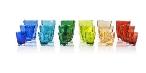 Drinkware, Glass, Tableware, Aqua, Teal, Tumbler, Still life photography, Paint, Cup, Old fashioned glass,