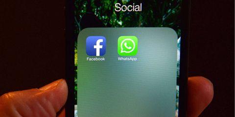 Green, Finger, Colorfulness, Technology, Logo, Aqua, Gadget, Display device, Thumb, Operating system,
