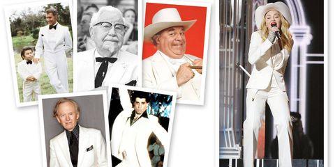 Sleeve, Hat, Photograph, White, Formal wear, Headgear, Fashion, Collage, Blazer, Sun hat,