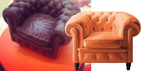 Brown, Furniture, Orange, Purple, Black, Tan, Armrest, Material property, Peach, Plastic,