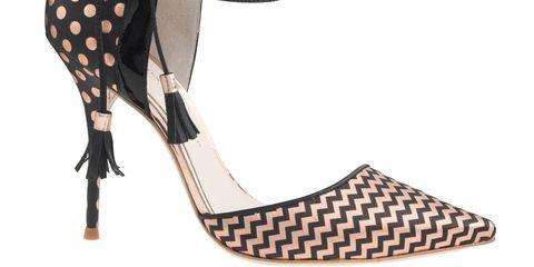 Brown, Tan, Costume accessory, Fashion, Pattern, Sandal, Beige, Wedge, Foot, High heels,