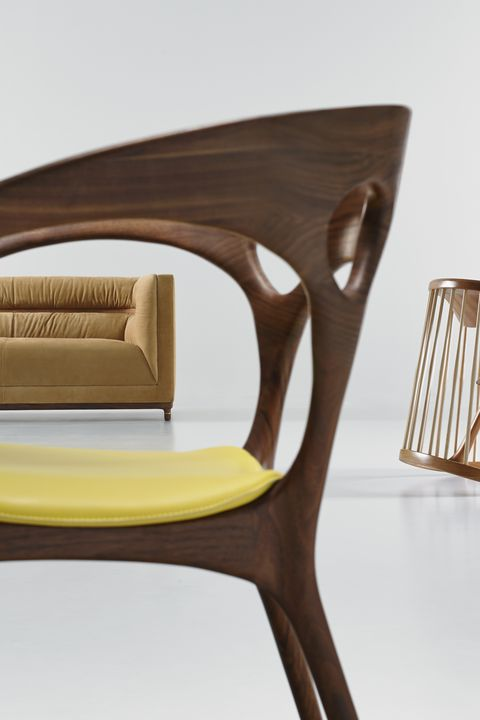 Bernhardt chairs by Noé Duchaufour-Lawrance, Jephson Robb, and Ross Lovegrove.