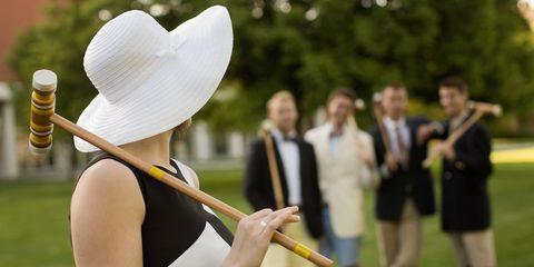 Musical instrument accessory, Elbow, Hat, Headgear, Costume accessory, Spring, Costume hat, Sun hat, Wind instrument, Drum stick,