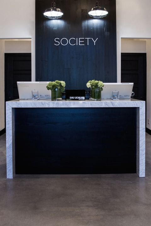 Floor, Flooring, Interior design, Ceiling, Light fixture, Ceiling fixture, Interior design, Grey, Door, Material property,