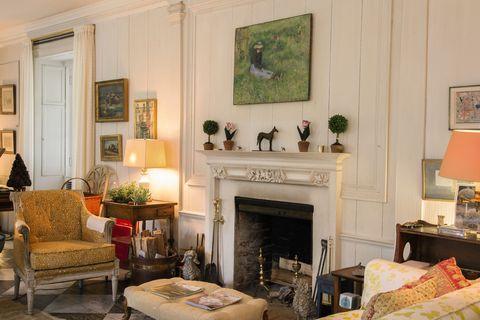 Bunny Mellon's living room in Upperville, Virginia
