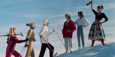 Winter, People in nature, Snow, Ice cap, Glacial landform, Winter sport, Playing in the snow, Ski pole, Gesture, Ski Equipment,