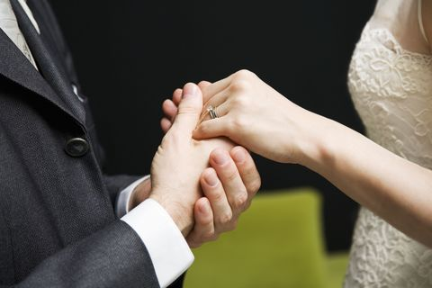 Finger, Skin, Hand, Joint, Wrist, Collar, Bridal clothing, Nail, Jewellery, Interaction,