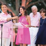 Paddle for Pink, Inner Circle, December 2014, Larry Baum, Maria Baum, Leonard Lauder, Myra Biblowit