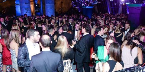 Hair, Crowd, People, Event, Audience, Purple, Function hall, Party, Fashion, Public event,