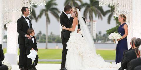 Clothing, Dress, Coat, Event, Trousers, Photograph, Bridal clothing, Suit, Outerwear, Bride,