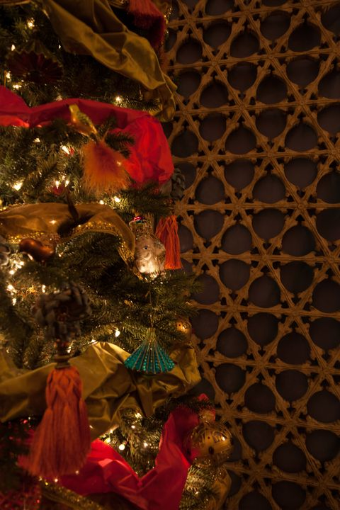 """<p>""""We love incorporating fabrics from your interiors into your tree and holiday decor. Try wrapping gifts in fabrics or using fabric as garland. It is a great way to add an unexpected texture and dimension!"""" &mdash;<em>Jennifer Beek and Georgie Hambright, <a href=""""http://jandgdesign.com/"""" target=""""_blank"""">J+G Design </a></em></p>"""