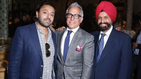 Vikram Chatwal, Geoffrey Zakarian, and Sant Singh Chatwal