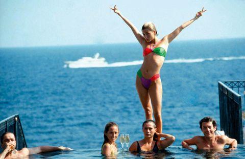 Hair, Head, Fun, Water, Leisure, Mammal, Swimwear, Tourism, Brassiere, Summer,