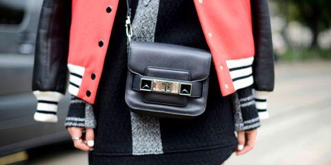 Sleeve, Textile, Collar, Bag, Street fashion, Pocket, Blazer, Button, Buckle, Top,