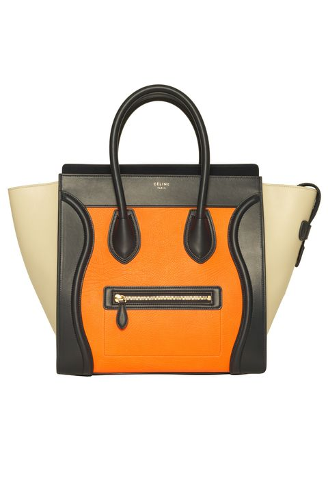 "Céline Mini Luggage Tote in Mulitcolor Elephant Calfskin Bright Orange, $3,450; &nbsp;at select Saks Fifth Avenue locations (<a href=""http://www.saksfifthavenue.com/Entry.jsp"">saksfifthavenue.com</a>) <strong> </strong>  <strong>Why you need it:</strong>&nbsp;Céline has been the ""It-bag"" of choice since 2009. New year, new Céline,&nbsp;right?"